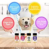 Shake it Pup! Dog Food Seasoning - Sample Flight of Flavors - 100% Human-Grade Topper, Bone Broth, Gravy for Kibble or Raw - Bacon & Eggs, Pizza, Charcuterie, Probiotics
