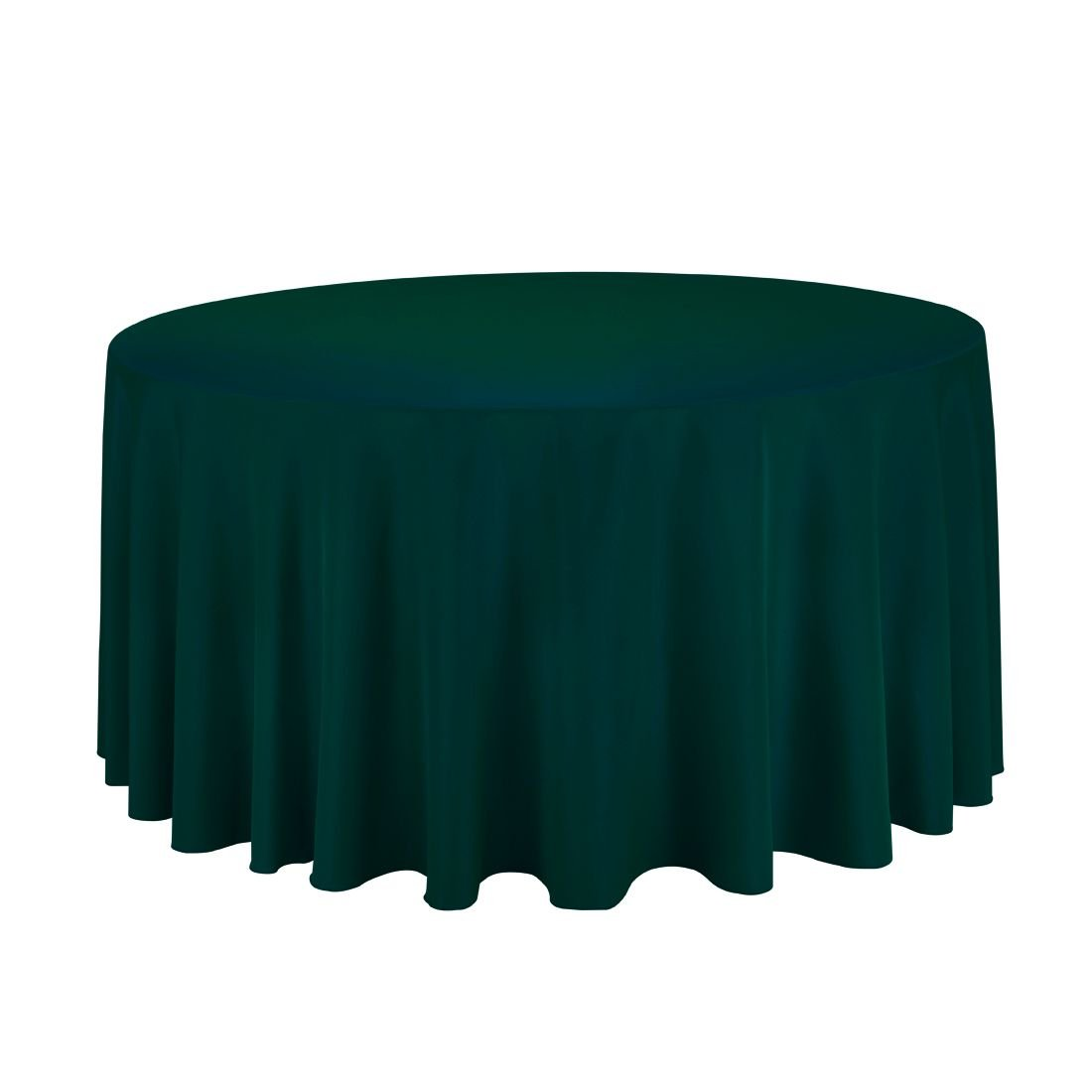Gee Di Moda Tablecloth - 120 Inch Round Tablecloths for Circular Table Cover in Black Washable Polyester - Great for Buffet Table, Parties, Holiday Dinner & More GDMPRD120B