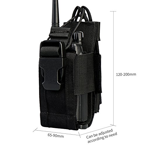 VIPERADE Versatile Radio Holder Case Interphone Pouch, Adjustable Storage Tools Pouch, Multi-Functional Tactical Molle Two Way Radio Holster, Walkie Talkie Heavy Duty Holder Case ()