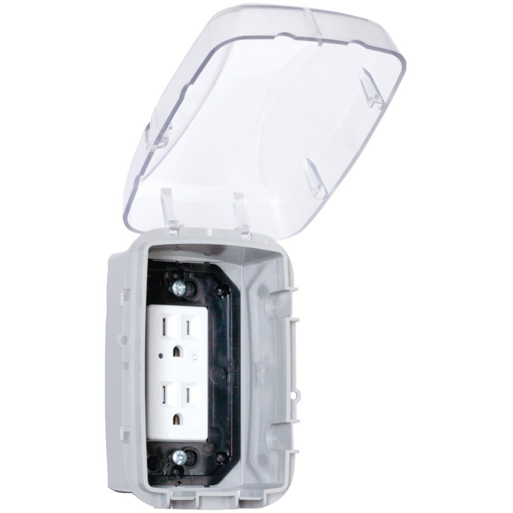 Intermatic WP3100C Weatherproof Receptacle Cover - Electrical Outlet ...