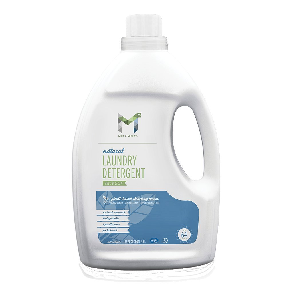 M2 Mild and Mighty M2 Liquid Laundry detergent free & clear all natural 32oz
