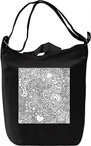 Smile Often Print Borsa Giornaliera Canvas Canvas Day Bag| 100% Premium Cotton Canvas| DTG Printing|