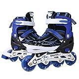 ANCHEER Kids Inline Skates Blue Adjustable Women Men Roller Skates Girls Boys Size 5 7 4 Aggressive Urban Rollerblades
