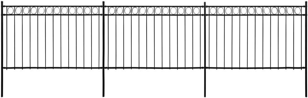 magasin britannique mieux choisir rechercher les plus récents vidaXL Panneaux de Clôture avec Poteaux Portail de Clôture ...