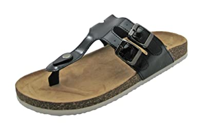 b53c2154abd0a Chatties Women s Trend Buckle Thong Slide Footbed Sandals (5-6 B(M)