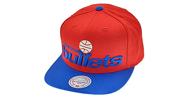 new styles 8bf68 41db0 Mitchell   Ness Washington Wizards Bullets NBA Snapback Gorra  Amazon.es   Deportes y aire libre