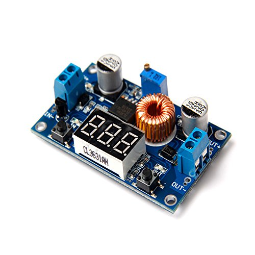 Solu ® 5a 40v 75w Dc-dc Adjustable Step-down Buck Voltage Converter Module Digit Voltme//5a 75w Dc-dc Adjustable Step-down Module with Voltmeter// 75w 5a Adjustable Dc-dc Step-down Charge Module LED Driver with Voltmeter ()