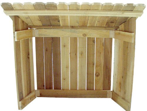 Cedar Nativity Stable - 46''W x 42''H x 24''D