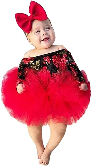 Baby Shower Gift Toddler Birthday Outfit Christmas Gift Party Outfit Infant Girl Cute Flower Outfit Baby Girl Valentine Clothes