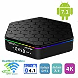 Android TV Box,T95Z Plus Android 7.1 TV Box Amlogic S912 Octa-Core 2GB/16GB 4K 1080P 2.4/5G Dual-Band WIFI Bluetooth 4.0 Set-Top Box