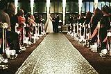 personalized aisle runner - ShiDianYi Sequin Aisles Floor Runner-Matte Gold 4FTX15FT Wedding Aisle Runner