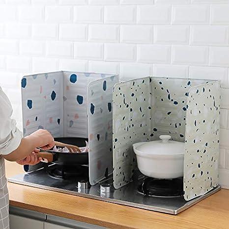 Bomoya Cottura Cucina Piatto Deflettore Cucinare Anti-Olio Isolamento Piatto Cucina Forniture Verde