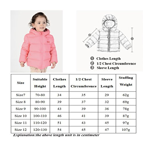 Nanny McPhee Kids Down Coat Unisex Baby Hooded Lightweight Down Puffer Jacket Outwear (More Styles Available) by Nanny McPhee (Image #6)