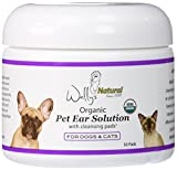 Wally's Natural Organic Pet Ear Solution with Cleaning Pads