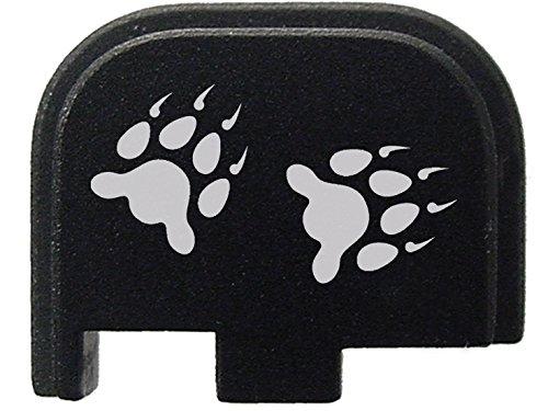 Direct Print Custom Laser (for Glock 42 .380 Rear Slide Cover Plate Black NDZ Bear Paw Prints Solid)