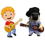 LUCKSTAR Pet Guitar Costume - Dog Costume Funny Cat Clothes Dogs Cats Super Funny Crazy Guitarist Style Pet Clothes Best Gift for Halloween Christmas Birthday Cosplay Party Weekend Parties (XL)