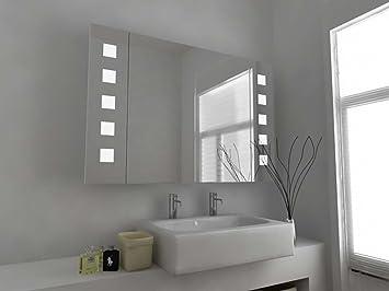 Armoire De Toilette Miroir Design Moderne Pour Salle De Bain Avec Capteur,  Plaque De Désembuage
