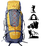Novicz HK002 60L Synthetic Water Proof Yellow Backpack for Hiking/Trekking