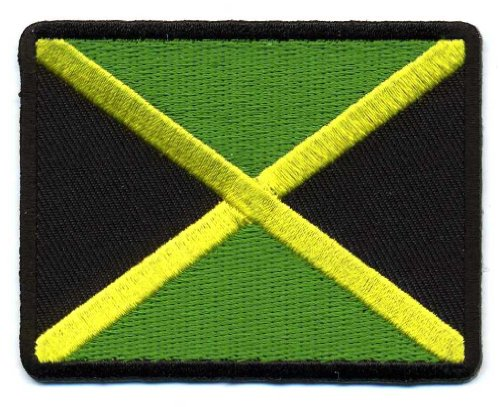 Embroidered Iron On Patch - Jamaican Flag Colors 3
