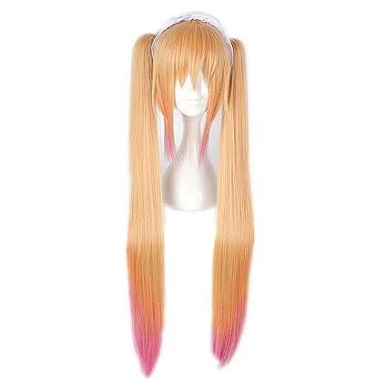 NiceLisa - Peluca larga para disfraz de cómic de Halloween, color ...