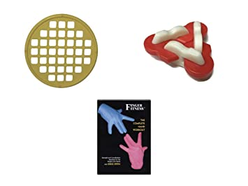Hand Healths Ultimate Finger Fitness Kit Starter Pack - Yellow Power Web Jr, Red and