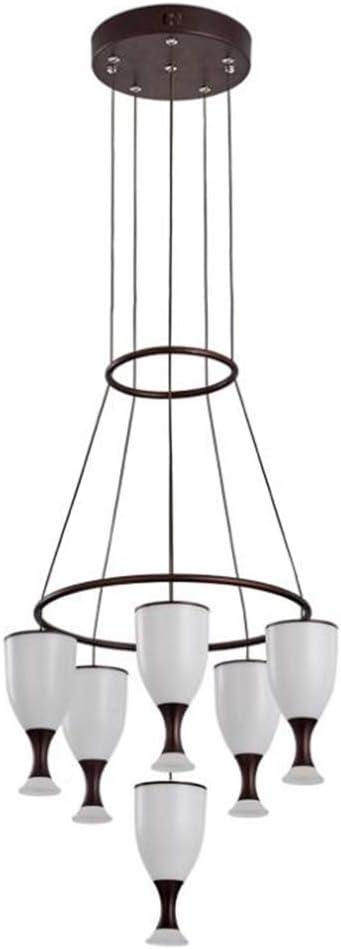 B07TZH6SN3 ZHANGYY Modern Minimalist Coffee Wine Glass 6-Lights Nordic Restaurant Staircase Bedroom Led Chandelier Home Decoration Lamp 51Co03b3JmL.SL1000_