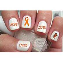 Awareness Orange Ribbon Nail Art Decals Ms or Leukemia