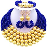aczuv Crystal Beaded African Beads Jewelry Set 2017 Nigerian Wedding Bridal Party Jewelry Sets