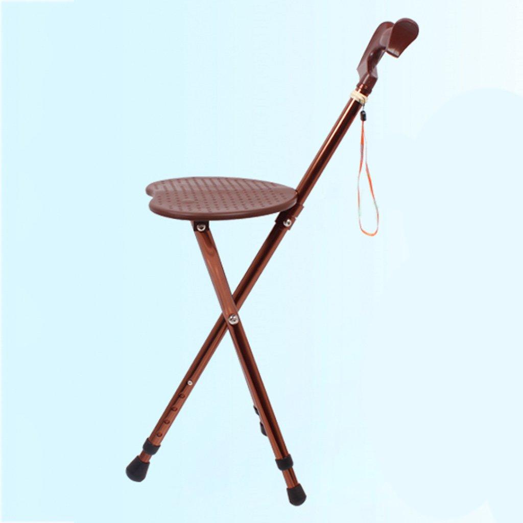 WANGXIAOLIN 高齢者の杖の椅子折り畳み杖のスツール B07BQKMZV4