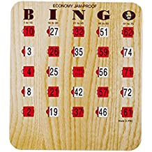 Mr. Chips Bingo Slide Shutter Cards | Economy Fingertip Jam Proof | Easy Sliders with Big Tabs | Extra Thick Board | Senior and Kids Friendly| 1 to 200 sets | Wood Grain Color