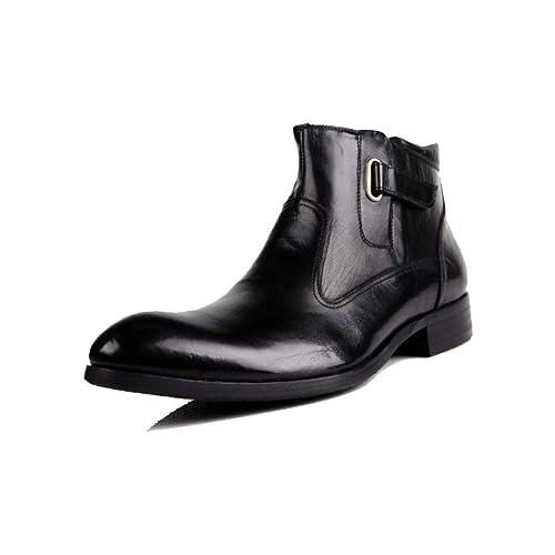 Hombre Zapatos De Tacón Alto Inglaterra Señaló Botines De Negocios Coreanos Martin Boots: Amazon.es: Zapatos y complementos