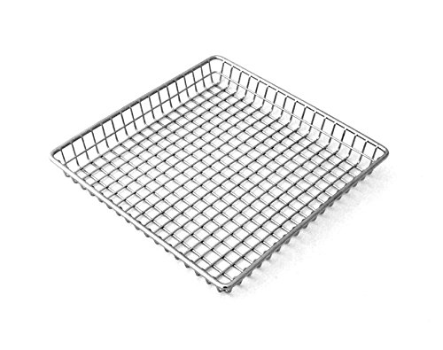 9'' Stainless Steel Square Grid Basket, Clipper Mill by GET 4-83599 (Qty,1)