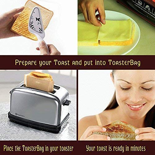 ekSel Non Stick Reusable Toaster Bags, Pack of 3 by ekSel (Image #1)
