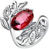 Women Fashion Jewelry 925 Sterling Silver Ruby Gem Wedding Bridal Ring Size 5-11#by pimchanok shop (9)
