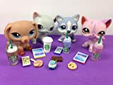 LPS Accessories Food Starbucks Littlest Pet Shop 12 pc. Lot Set: 2 Tablets, 2 Phones, 4 Starbucks, 4 Snacks; PET NOT INCLUDED