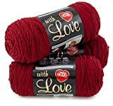 Red Heart With Love 3 Pack, 3-Pack-Berry Red 3