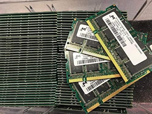 (20 x MT4VDDT3264HG-335F2 256MB DDR PC2700 DDR-333 200P SODIMM RAM Memory Tested)