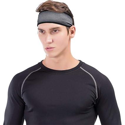 Amazon.com  Men Hair Head Band Breathable Headband Stretch Mens Wrap ... e88b1d0bdee