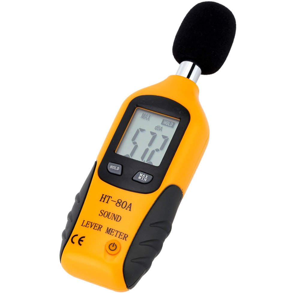 Mengshen Digital Sound Level Meter, Handheld Audio Noise Meter Tester with LCD Display Measuring 30-130dB (Battery Included) by Mengshen