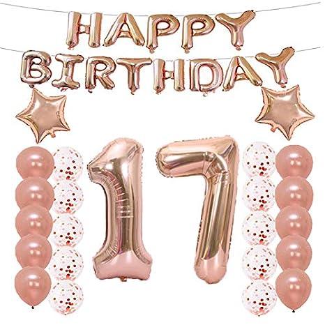 Amazon.com: 17 cumpleaños decoraciones suministros de fiesta ...