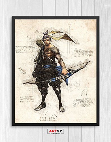 Overwatch print, Hanzo print, Overwatch poster, Hanzo poster, game poster, Blizzard N.031