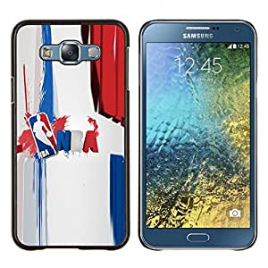 Baloncesto N B A- Metal de aluminio y de plástico duro Caja del teléfono - Negro - Samsung Galaxy E7 / SM-E700