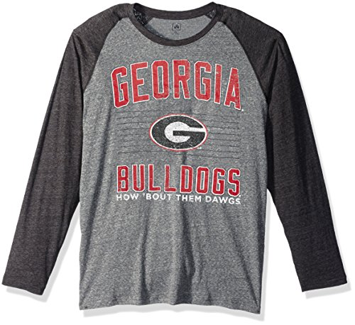 Bulldog Baseball Jersey - J America NCAA Georgia Bulldogs Men's AAA Tee Baseball Tee, X-Large, Graphite Heather