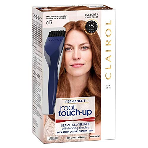 Clairol Nice 'n Easy Permanent Root Touch-Up, 6R Light Auburn/Reddish Brown 1 ea (Pack of 12) by Clairol