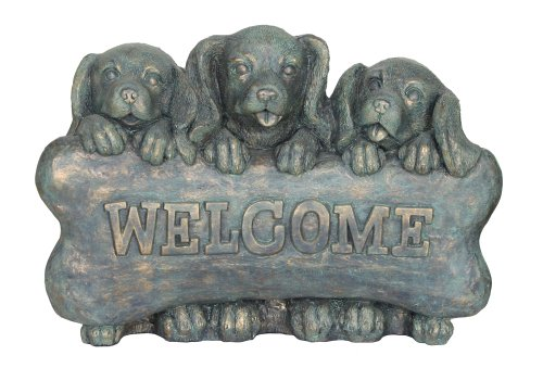 Garden Accents by Beckett Welcome Puppies Statuary