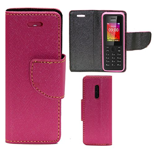 Zaoma Diary Type Flip Cover for Nokia 105/105 Dual  2015    Pink