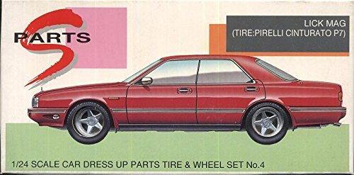 アオシマ 1/24 Sパーツシリーズ タイヤ&ホイールセット No.4 リック マグ(タイヤ:ピレリ チンチュラートP7)の商品画像