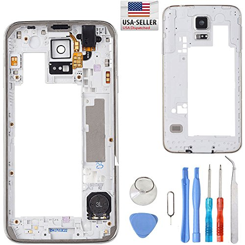 Middle Frame Housing Bezel Camera Cover For Samsung Galaxy S5 SV i9600 G900 + Tool Kit by Unifix