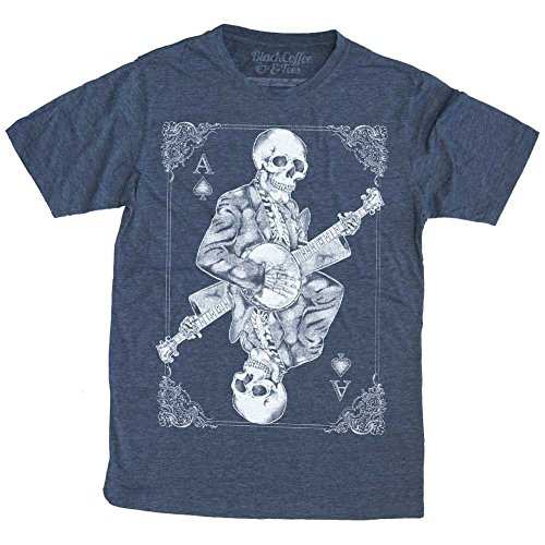 Men's Banjo Player Shirt - Skeleton Playing Banjo T-Shirt]()