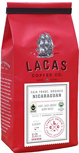 (Lacas Coffee Company Fair Trade Organic Nicaragua- Las Brumas Medium Fine 12 oz.)
